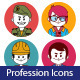 Set of Flat Profession Icons - GraphicRiver Item for Sale