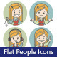 Two Sets of Flat People Icons - GraphicRiver Item for Sale