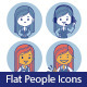 Two Sets of Flat People Icons with Businesswomen - GraphicRiver Item for Sale
