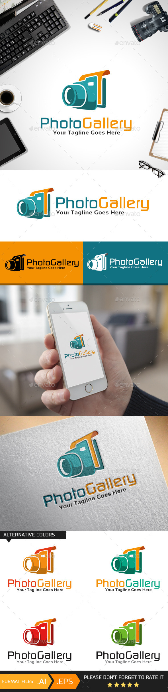 Photo Gallery Logo Template - Objects Logo Templates