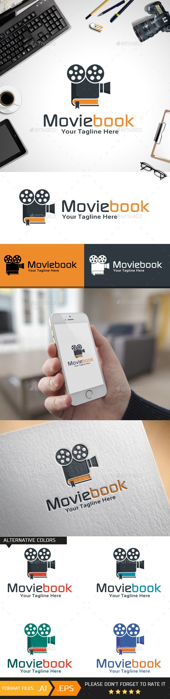 Movie Book Logo Template - Objects Logo Templates