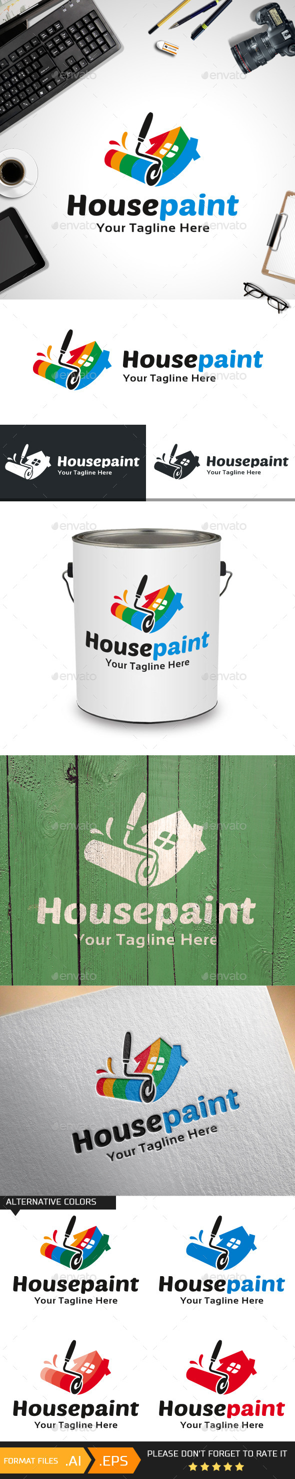 House Paint Logo Template - Buildings Logo Templates