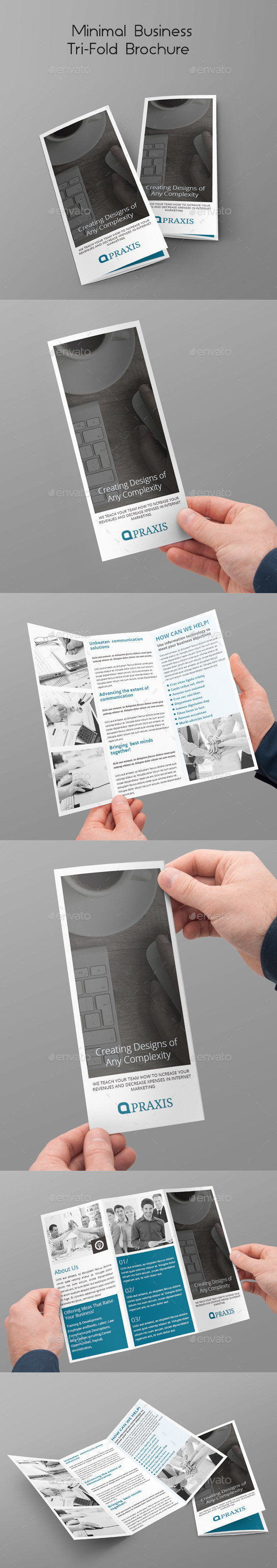 Minimal Business Tri-Fold Brochure - Corporate Brochures