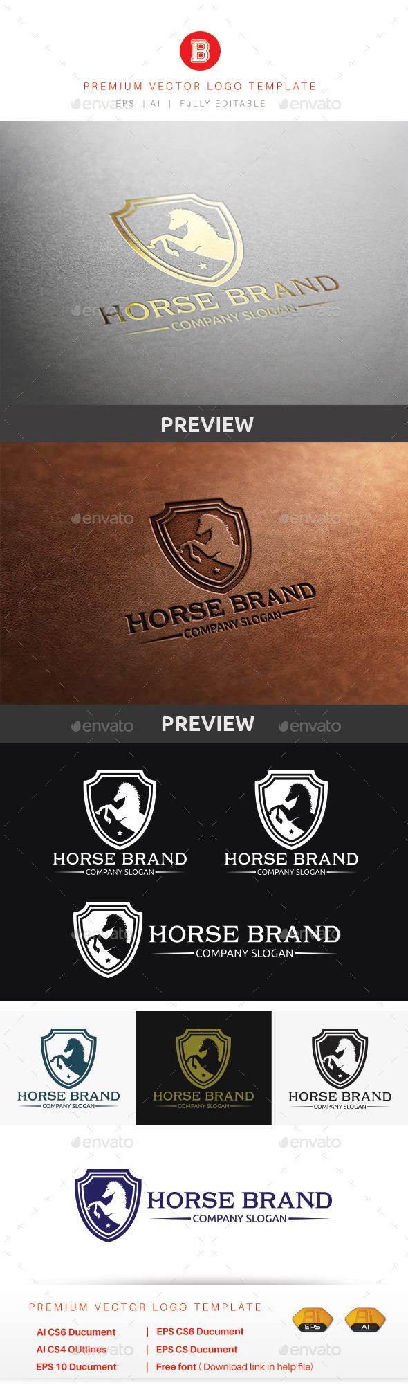 Horse Brand - Animals Logo Templates