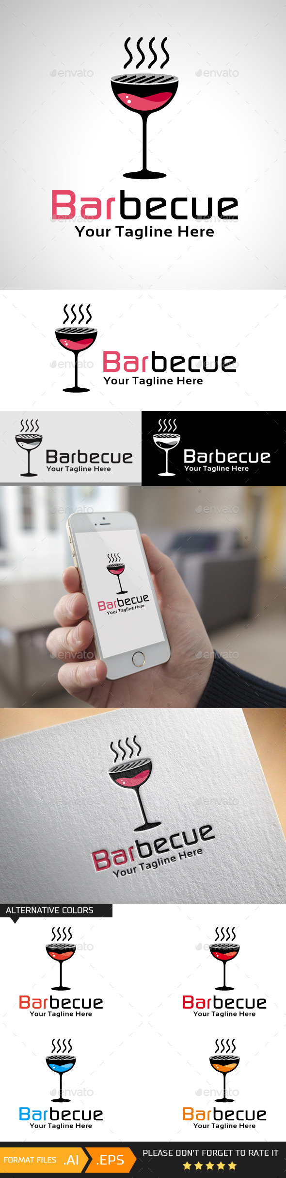 Barbecue Logo Template - Objects Logo Templates