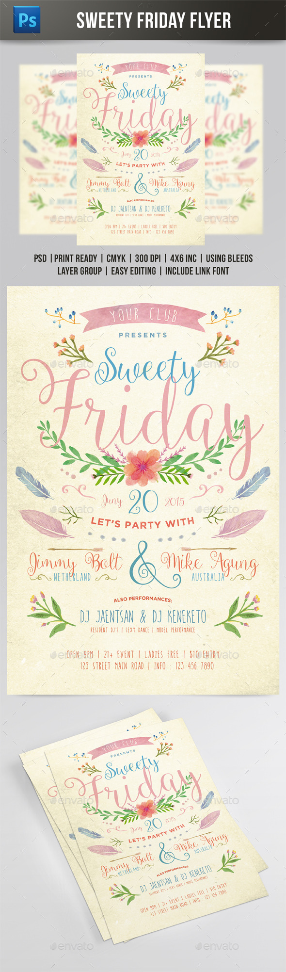 Sweety Friday Flyer - Events Flyers