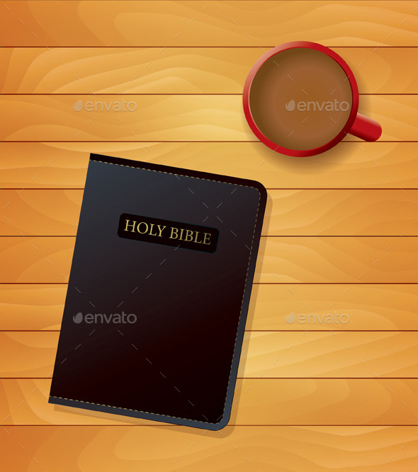 Bible and Coffee Devotional Concept - Religion Conceptual