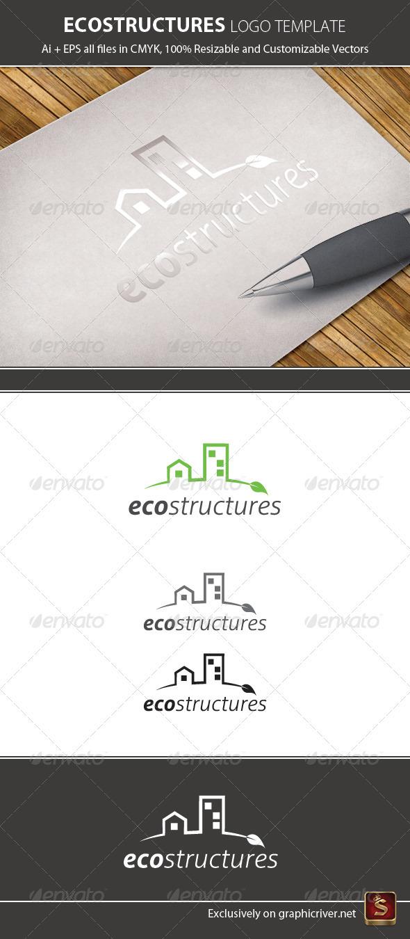 Ecology Logo Template - Buildings Logo Templates