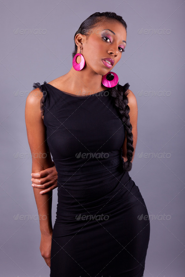 Young beautiful african american woman - Stock Photo - Images
