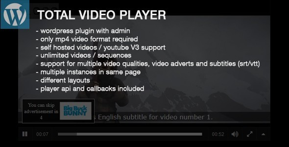 Total Video Player Wordpress Plugin - CodeCanyon Item for Sale