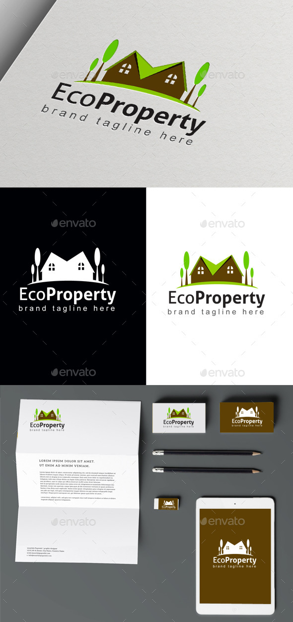 Eco Property - Buildings Logo Templates