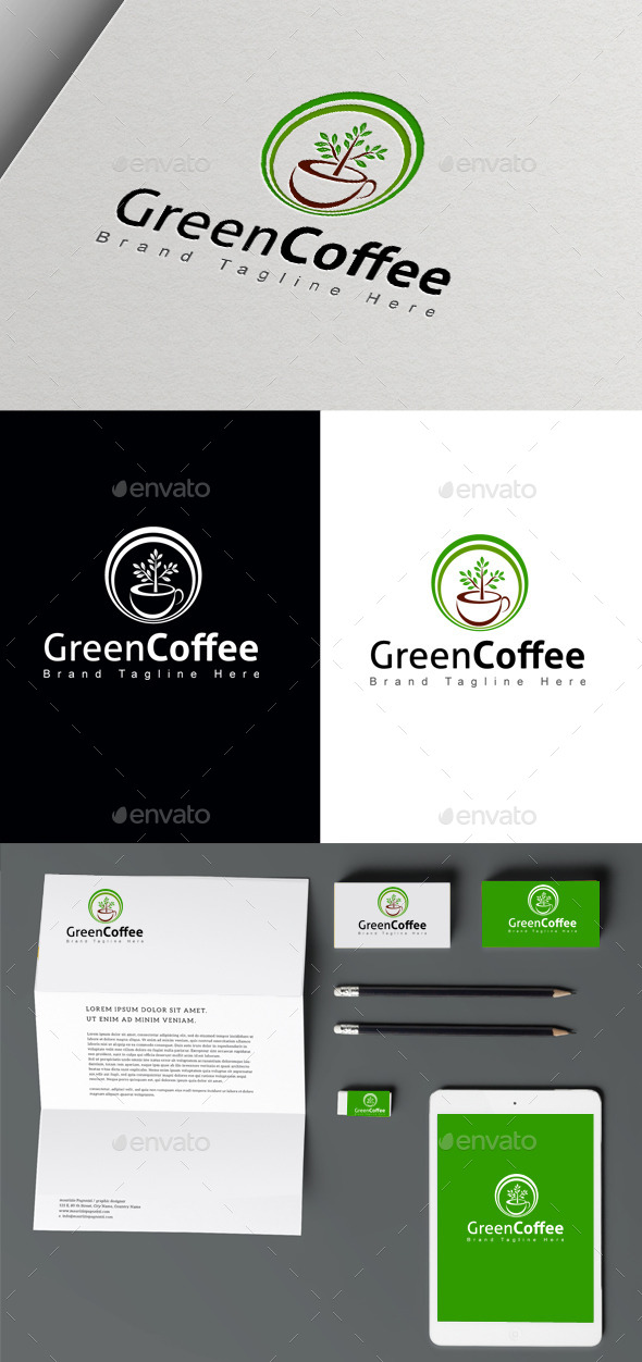 Green Coffee - Symbols Logo Templates