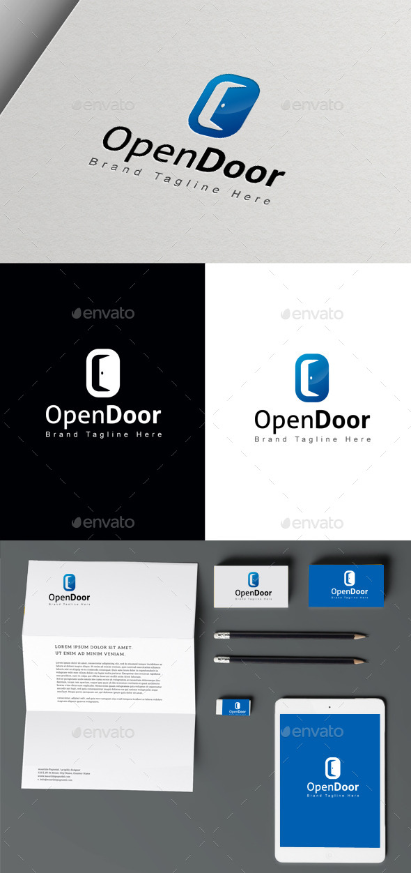 Open Door - Buildings Logo Templates
