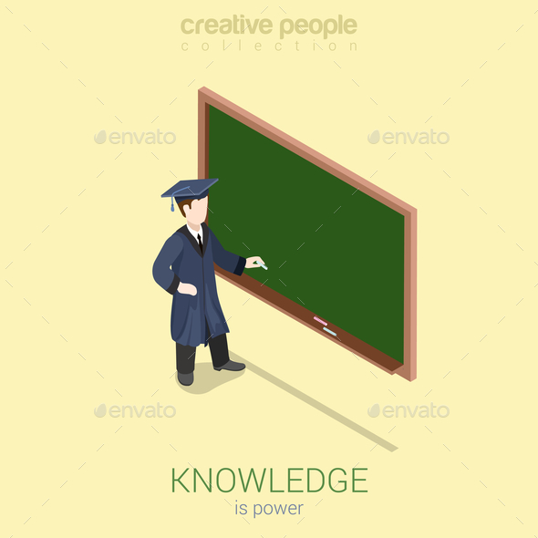 Graduation Learning Infographic - People Characters