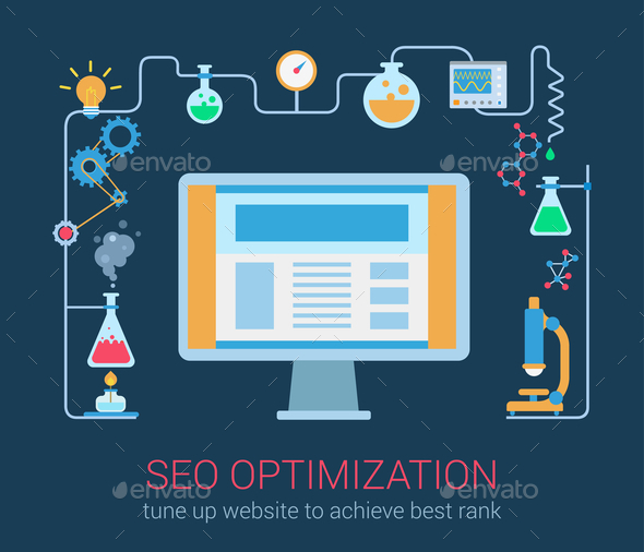 SEO Optimization Magic Chemistry Process - Concepts Business