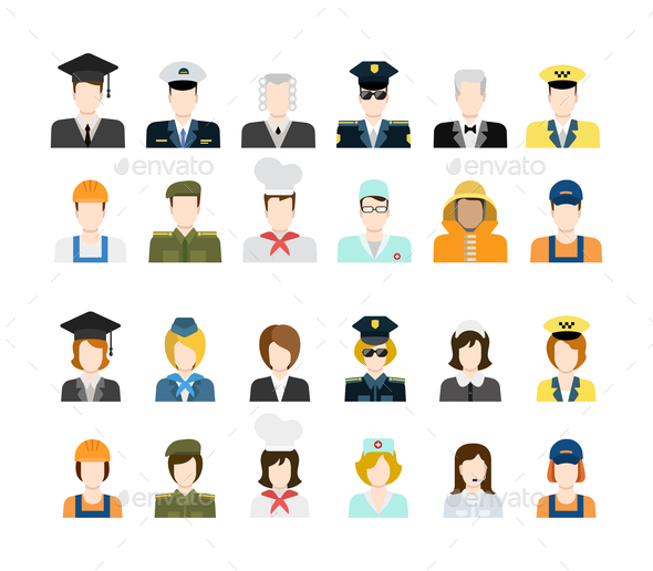 Set of People Icons - People Characters