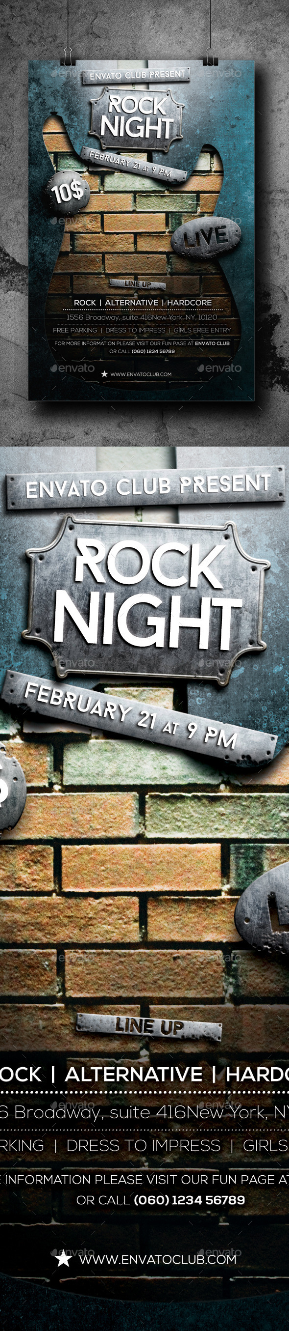 Rock Night Flyer - Clubs & Parties Events
