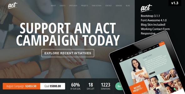 Act - Multipurpose Nonprofit Theme - Charity Nonprofit