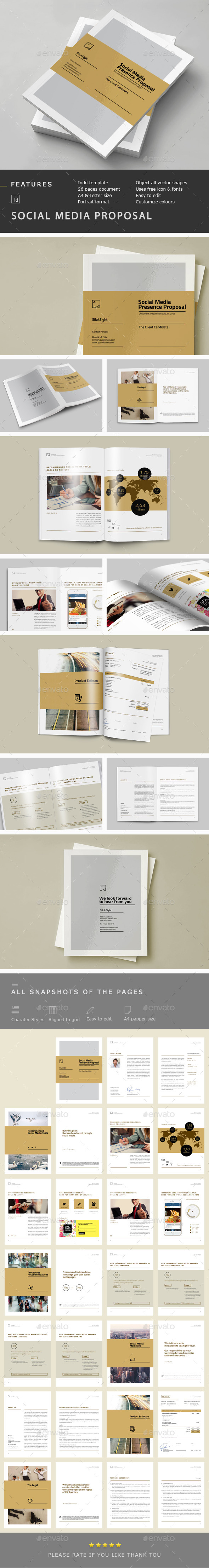 Social Media Proposal - Proposals & Invoices Stationery