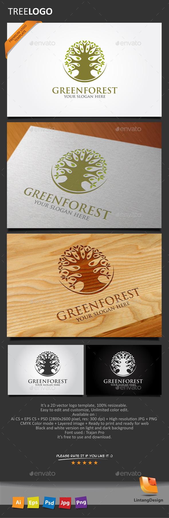 Tree Logo - 004 - Nature Logo Templates