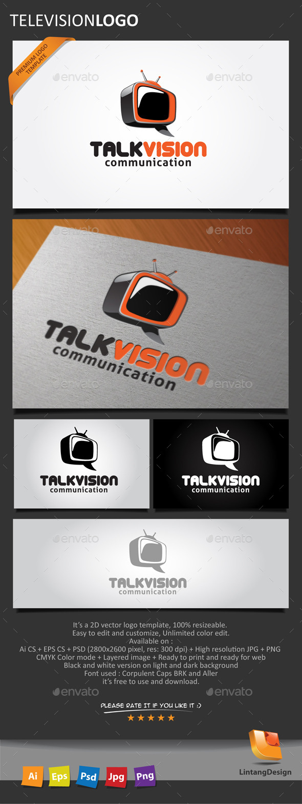 Television Logo - Objects Logo Templates