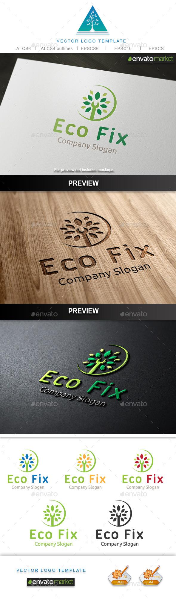 Eco Fix Logo - Nature Logo Templates
