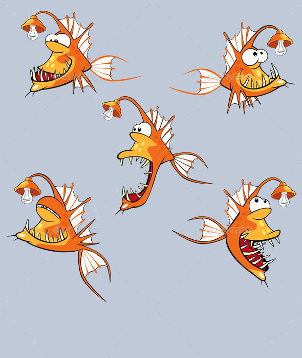 Fish Cartoon - Animals Characters