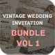 Vintage Wedding Invitation Bundle Vol. 1 - GraphicRiver Item for Sale