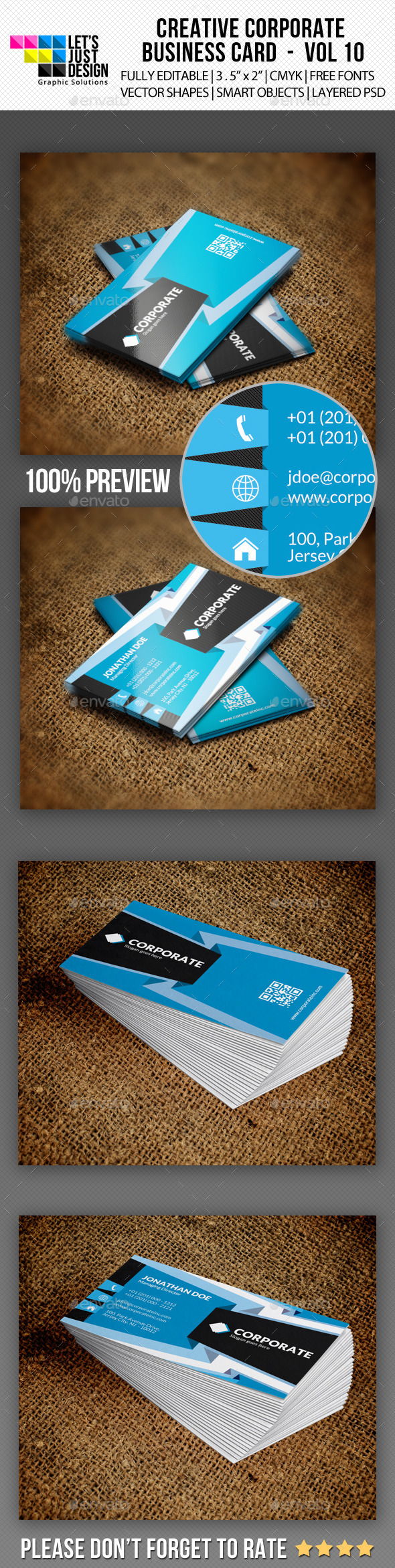 Corporate Business Card Vol 10 - Corporate Business Cards