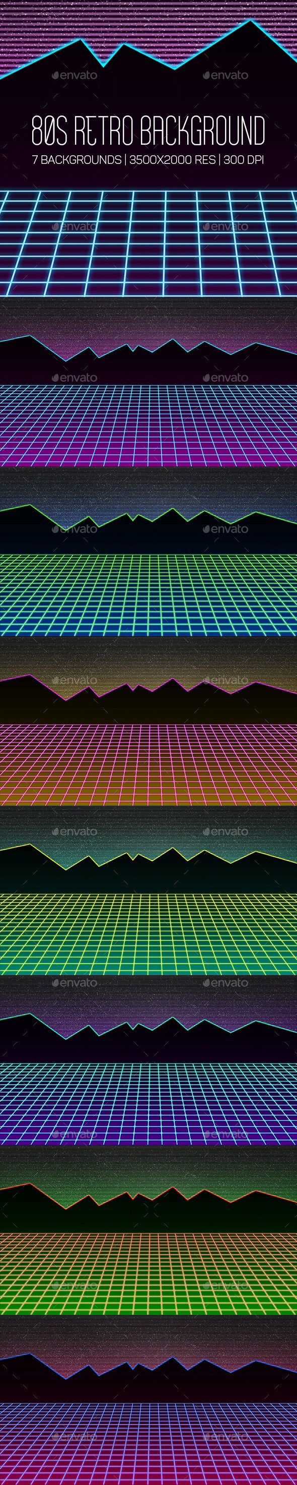 80s Retro Background - Abstract Backgrounds