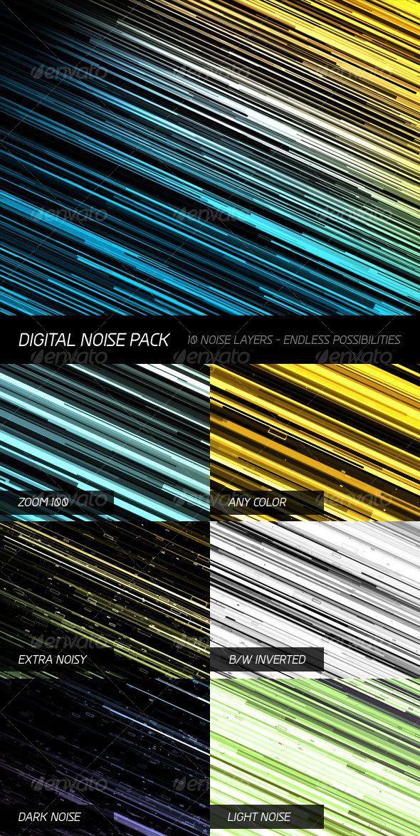 Digital Noise Pack - Tech / Futuristic Backgrounds