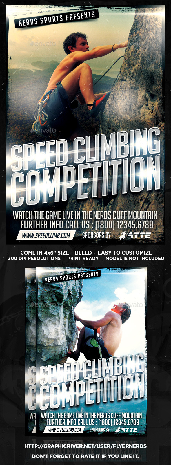 Speed Climbing 2K15 Competition Sports Flyer  - Sports Events