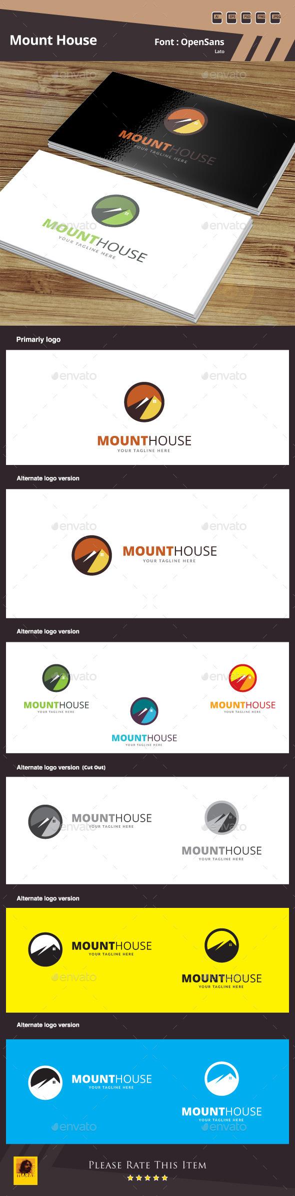 Mount House Logo Template - Buildings Logo Templates