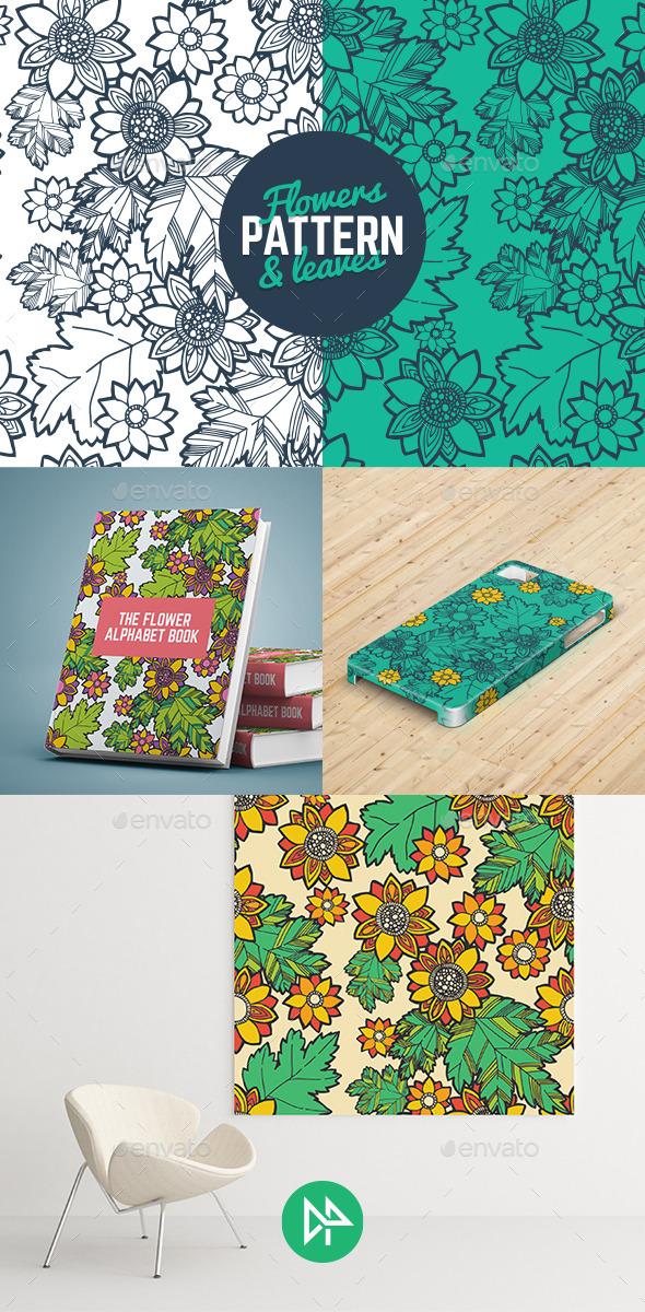Flowers & Leaves Pattern - Organic Objects Objects
