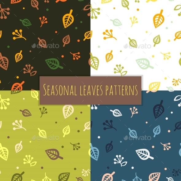 Leaves Pattern 4 Seasons - Patterns Decorative