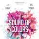 Color Sounds Party Flyer  - GraphicRiver Item for Sale