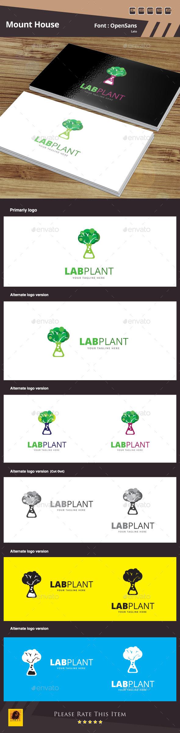 Lap Plant Logo Template - Symbols Logo Templates