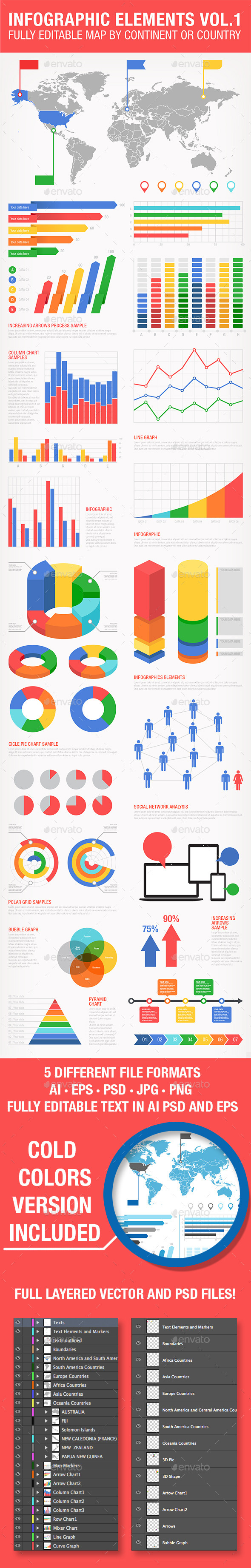 Colorful Infographics Set - Infographics