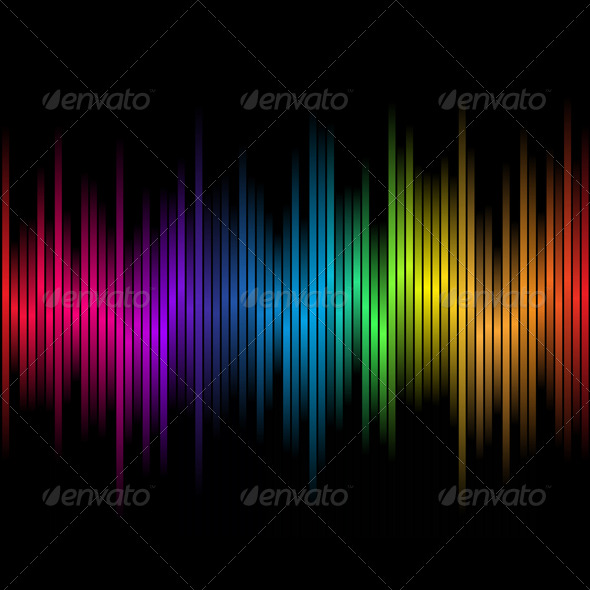 Abstract Rainbow colours 2 - Abstract Conceptual
