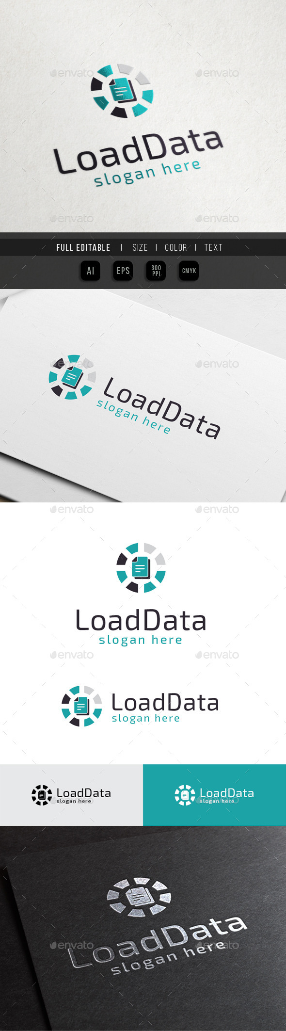 Database Loading - Cloud Data - Objects Logo Templates