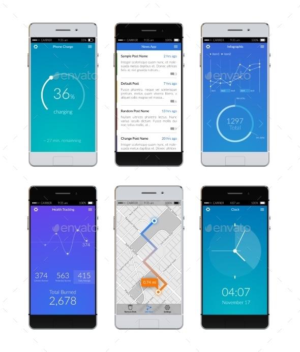 Smartphone Ui Set - Technology Conceptual