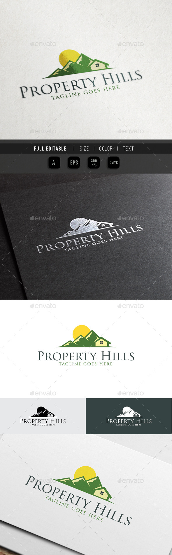 Property Hills - Eco Green House - Nature Logo Templates