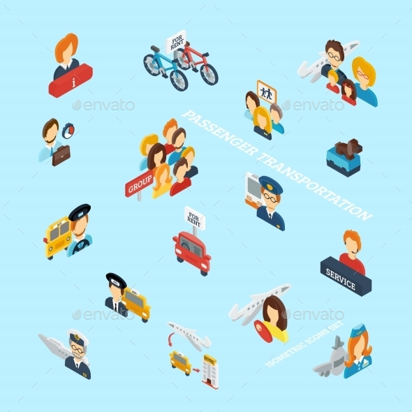 Passenger Transportation Isometric - Miscellaneous Vectors