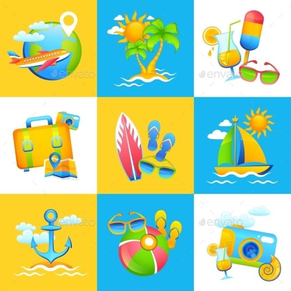 Summer Vacation Design Concept - Travel Conceptual