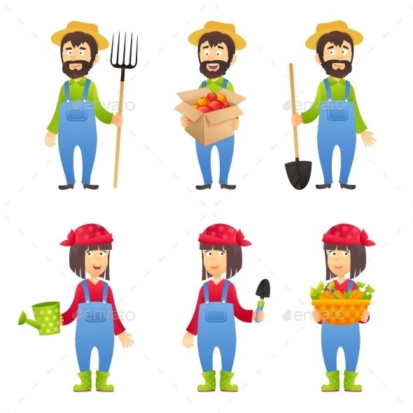 Farmer Cartoon Character - People Characters