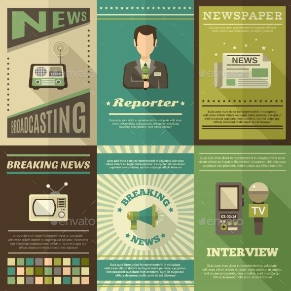 Journalist Poster Set - Media Technology