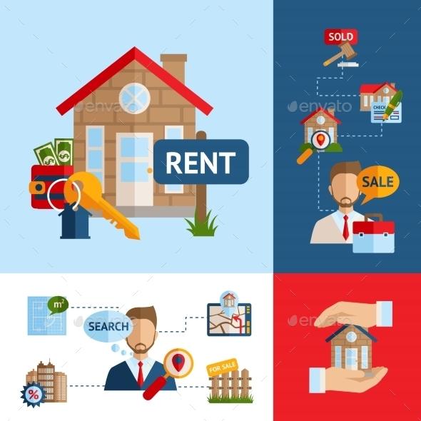 Real Estate Concept Set - Business Conceptual