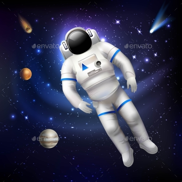 Astronaut In Space - Backgrounds Decorative