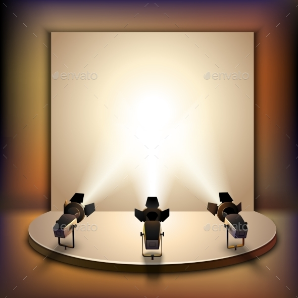 Stage With Spotlights - Backgrounds Decorative