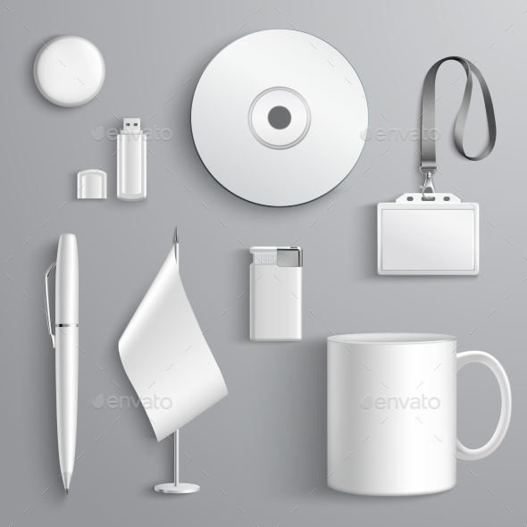 Corporate Identity Set - Objects Vectors